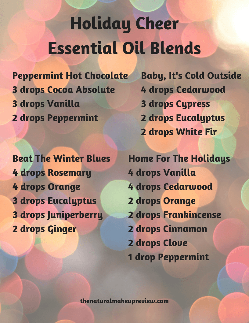 Holiday Cheer Essential Oil Blends