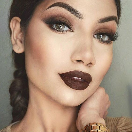 Brown Eyes and Lips